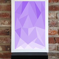"Abstract Triangles Vector Art Print / Poster Purple 11"" x 17"""