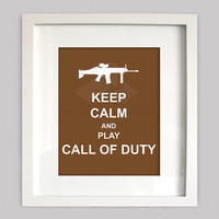 Keep Calm and Play Call Of Duty, 8x10 Custom Digital Wall Art, Customizable Colors&Guns, video game art, Digital Wall Art (Digital Download)