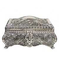 Lg. Silver Jewelry Box
