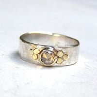 Handmade Engagement RingTrending ring  Fine 14k gold by OritNaar