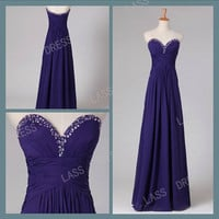 A-line Strapless Floor-length Chiffon Bridesmaid Dress