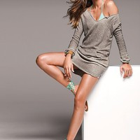 Victoria&#x27;s Secret - French-terry Mini Dress in Nickel