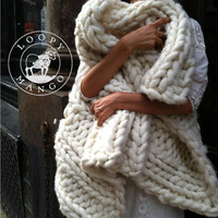 28'' x 40'' Chunky Knit blanket, throw or wrap
