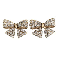 Rhinestone Bow Post Earring