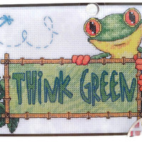 Cross stitch kit Think Green Counted cross stitch