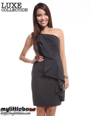Waterfall Toga Shift Dress