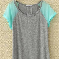 Chiffon Green Sleeve T-shirt from Bblythe
