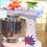 Kitchen Mixer Vinyl DecalSuper Hero by thewordnerdstudio on Etsy