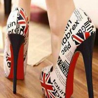 Stylish Union Jack Stiletto Pumps from CocoCouture