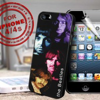 the beatles design print - black case - for iPhone 4 / 4s