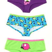 Invader Zim Mustache Hot Pants 3 Pack