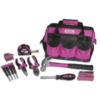 The Original Pink Box PB30TBK 12-Inch Tool Bag and Tool Set