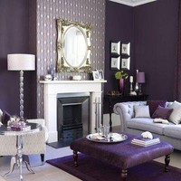 Purple Sofa - Contemporary - living room