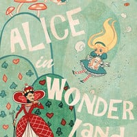 Alice in Wonderland Lit mini poster 8x12