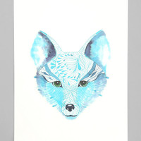 Ola Liola Blue Fox Art Print