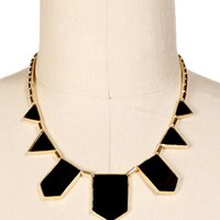 Gold/Black Triangle Epoxy Necklace