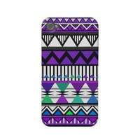 Purple Tribal 2 Pattern iPhone 4/4S Case-Mate Case Iphone 4 Case from Zazzle.com