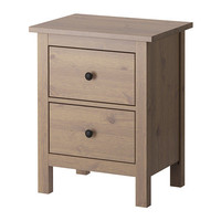 "HEMNES Chest with 2 drawers, gray-brown - 21 1/4x26 "" - IKEA"