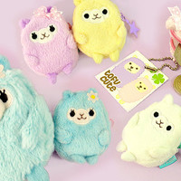 Buy Pastel Alpaca Furry Mini-Case Keychain at Tofu Cute
