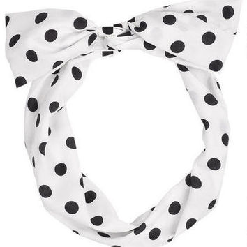 Polka Dot Wire Headwrap