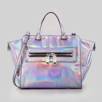 Hologram Demi Tote Bag, Silver