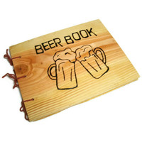 Wooden Brew Log Book Larger Beer Book by BillsWoodenPleasures