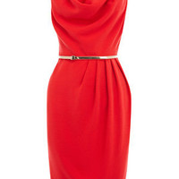Oasis Shop | Mid Red Cowl Drape Dress | Womens Fashion Clothing | Oasis Stores UK