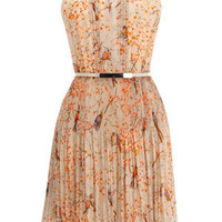 Oasis Sweet Dreams | Multi Bird Pleated Dress | Womens Fashion Clothing | Oasis Stores UK