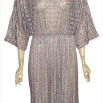 Gray 70s Vintage Transparent Nylon Dress
