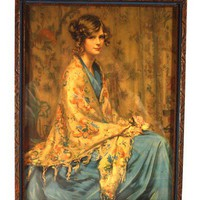 Alice Blue Gown Print early 1900's, Arthur Garrett NR