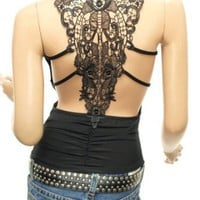 Patty Women Sexiest & Stunning Lace Back Ruched Halter Clubwear Top