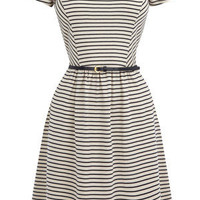 Oasis Sing the Blues | Multi Blue Cotton Stripe Dress | Womens Fashion Clothing | Oasis Stores UK