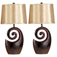 UMA 95642 Gold and Brown Polystone Table Lamp
