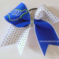 Hang Loose Large Cheer Bow Hair Bow by SparkleBowsCheer on Etsy