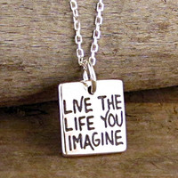 Live the Life You Imagine Necklace Sterling Silver by HANNI
