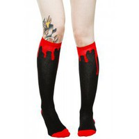 "SOURPUSS BLOODY HELL 17"" SOCKS - Socks - Accessories - Gals"