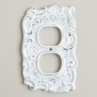 White Cast Iron Outlet Plate | World Market