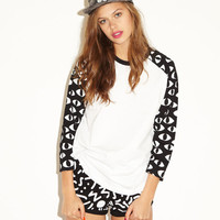 Lazy Oaf | Eyes Baseball T-shirt for Girls