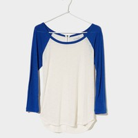 AE Zip-back Baseball T-Shirt | American Eagle Outfitters