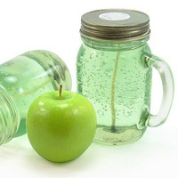 Green Apple Odor Eliminating 12oz Gel Candle | SunArtisans - Candles on ArtFire