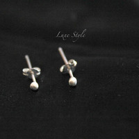 Silver Cartilage Stud earrings, tragus earrings, helix silver ball earrings, posts, silver posts, Sterling silver studs