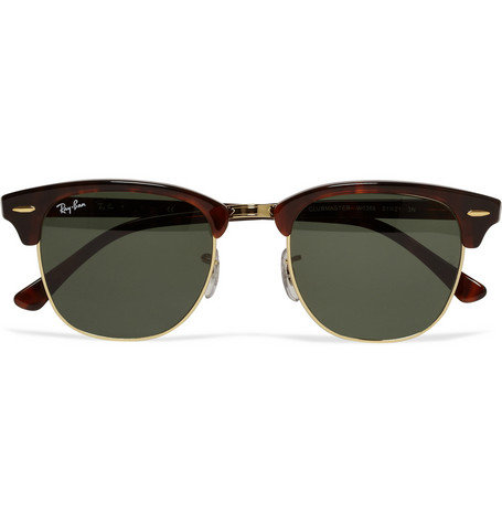 Ray-Ban Clubmaster Acetate and Metal Sunglasses | MR PORTER