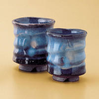 Blue Hagi Twisted Teacups