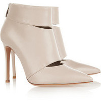 Gianvito Rossi | Cutout leather ankle boots | NET-A-PORTER.COM