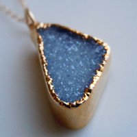 Druzy Necklace in Brilliant Blue SOMETHING BLUE by 443Jewelry