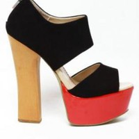 Black and Red Platform Heel
