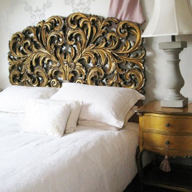 Gold Gilt Rococo Headboard|Headboards|Beds &amp; Mattresses|French Bedroom Company