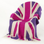 NEW! Pink Union Jack Throw  |  Cushions & Throws  |  Bed Linen & Rugs  |  French Bedroom Company