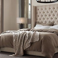 Adler Tufted Platform Bed | Restoration Hardware