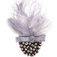 Oasis Jewellery | Mid Grey Feather Clip | Womens Fashion Clothing | Oasis Stores UK